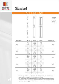 technický list henrad standard